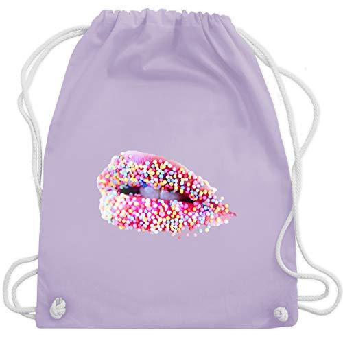 Shirtracer Statement - Candy Lips Lippen Zucker Mund - Unisize - Pastell Lila - Lippenstift - WM110...