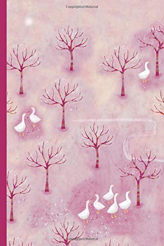 Notes: A Blank Ukulele Tab Music Notebook with Geese in the Orchard Landscape Cover Art