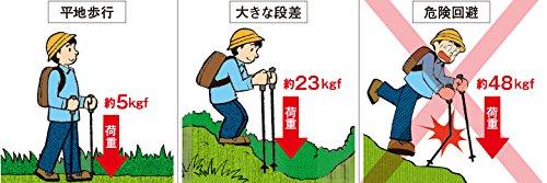 シナノ(SINANO)登山トレッキングポールステッキタイプ3YSHSS-2Wブルー113437