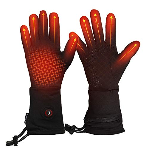 Heated Glove Liners for Men Women Winter Warm Electric Ski Gloves for...
