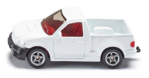 SIKU 0867, Pick-Up SIKURANGER, métal/plastique, Blanc, Attelage de remorque