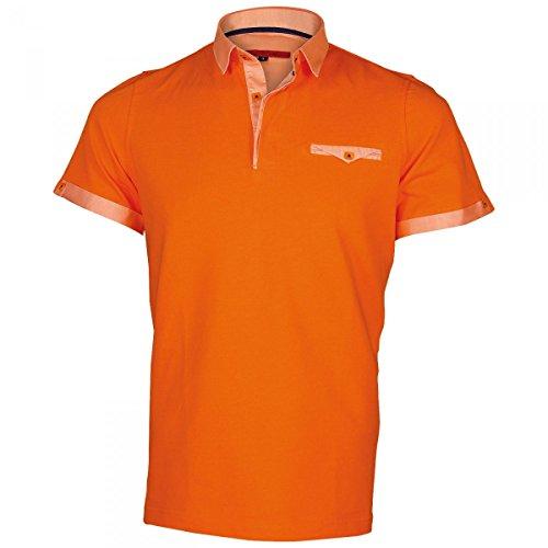 Inconnu Polo col Italien Oxford Orange - Taille 2XL
