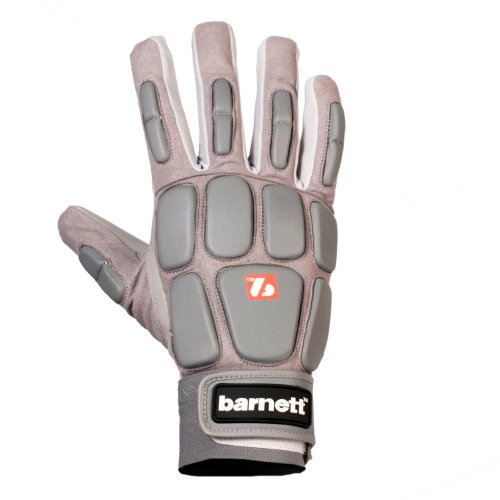 BARNETT - American Football Receiver-Handschuhe in silber, Größe M