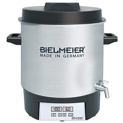 BIELMEIER Einkochautomat 1800 W 27 Liter Auslaufhahn Edelstahl 1/2