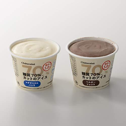 シャトレーゼ 糖質70%カットのアイス 2種16個入 バニラ チョコ 詰合せ 糖質5.0g 糖質制限 糖質オフ 低糖質スイーツ