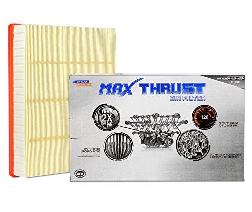 Spearhead MAX THRUST Performance Engine Air Filter For Low & High Mileage Vehicles - Increases Power & Improves Acceleration (MT-755A)