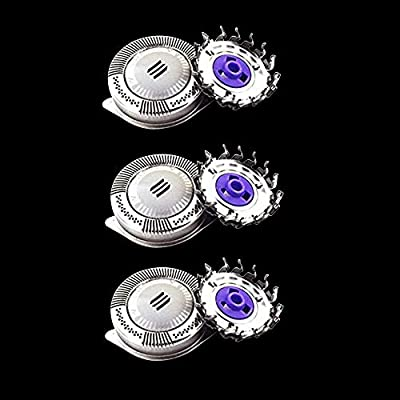 3 Pack Men's Electric Shaver Heads Blades for Philips HQ8 PT720 PT860 AT890 AT899 AT750, Replacement Shaving Heads Cutting Parts Rotary Blades for Men a Close Comfortable Shave. from