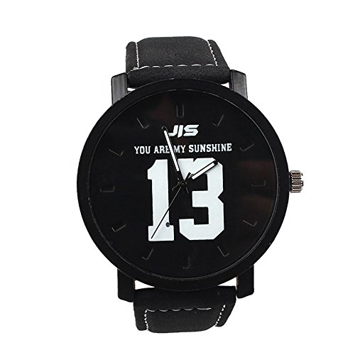 Womens Quartz Watch,Hosamtel Female Lady Girls Analog Wrist Watch with Leather Band for Women D35 (Black)