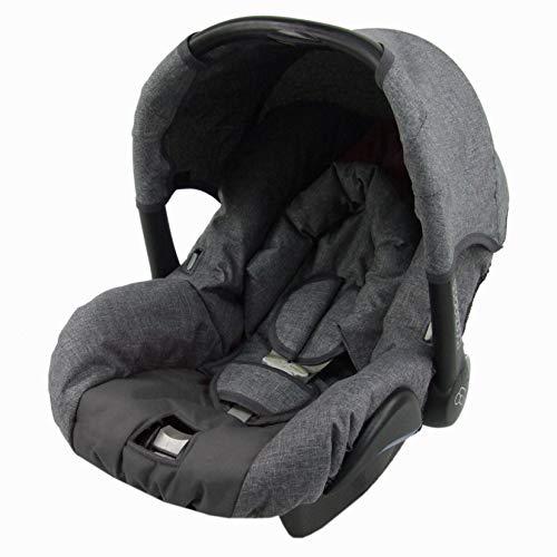 BAMBINIWELT Ersatzbezug für Maxi-Cosi CITI SPS 6-tlg, Bezug für Babyschale, Komplett-Set (grau-dunkegrau) XX