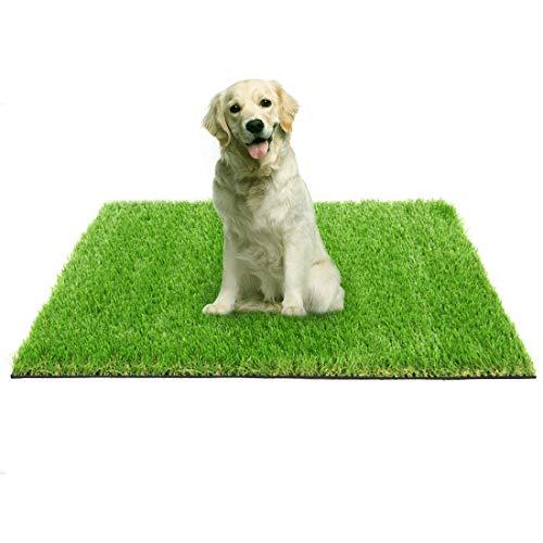 ProGoal Kunstrasen-Teppich, Lavendel, für Terrasse, Balkon, Garten, Innen- und Außenbereich, Bodendekoration, leicht zu reinigen, mit Abflusslöchern (121,9 x 76,2 cm, grün)