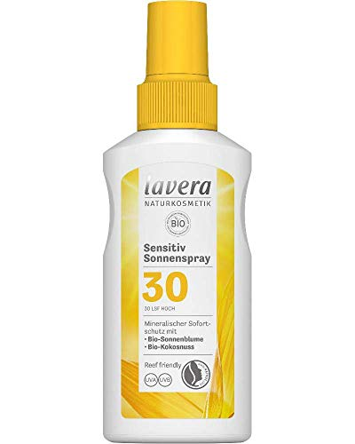 lavera Sensitiv Sonnenspray LSF 30 • Sonnenschutz • Lichtschutzfaktor 30 • Naturkosmetik • vegan • zertifiziert • 100 ml