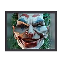 "Joker ジョーカー スマイル インテリア キャンバス 絵画 家の壁 装飾画 壁飾り 壁ポスター パネル インテリア 装飾 ソファの背景絵画 12"" x 16"" 気分転換 癒し 外枠付き"
