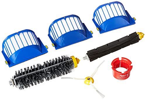 iRobot 4636432 Authentic Replacement Parts - Roomba 600 Series Replenishment Kit (1 Bristle Brush, 1 Beater Brush, 1 Spinning Side Brush, 3 AeroVac Filters, and 1 Round Cleaning tool), White