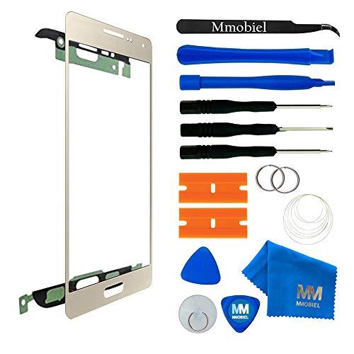 MMOBIEL Kit de Reemplazo de Pantalla Táctil Compatible con Samsung Galaxy A5 A510 (2016) Series (Oro) Incl. Herramientas