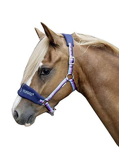 HKM Halfter -Funny Horses-, dunkelblau/blau/Dunkelpink, Mini Shetty