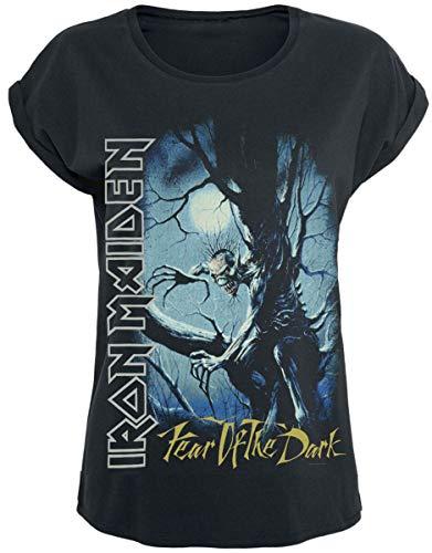 Iron Maiden Fear of The Dark Donna T-Shirt Nero/Effetto usurato M 100% Cotone Regular