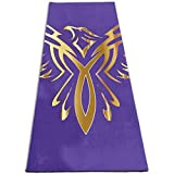 CMSTREESK Phoenix Printed Yoga Mat,Non-Slip Texture Anti-Tear Exercise Home Gym Yoga Mat with Carrying Strap