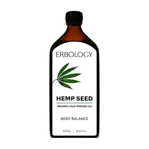 Aceite de Cáñamo Bio 500ml - Prensado en Frío - Rico en Omega 3, Omega 6 y Vitamina D - Equilibrio Nutricional