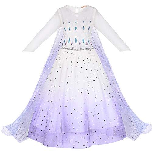 Teaisiy Vestito Cerimonia Bambina, Vestito Principessa Bambina Regalo Bambina 6 7 8 Anni Costume Bambina Regali di Compleanno Vestito Battesimo Bimba Vestito Elsa Bambina