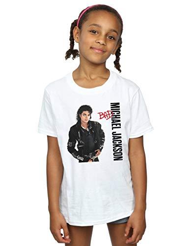 Michael Jackson Mädchen Bad Pose T-Shirt Weiß 9-11 Years