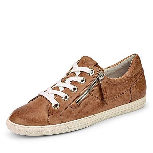 Paul Green 4940 056 Damen Sneaker Glattleder Lederausstattung pg-Soft-System, Groesse 40, cognac