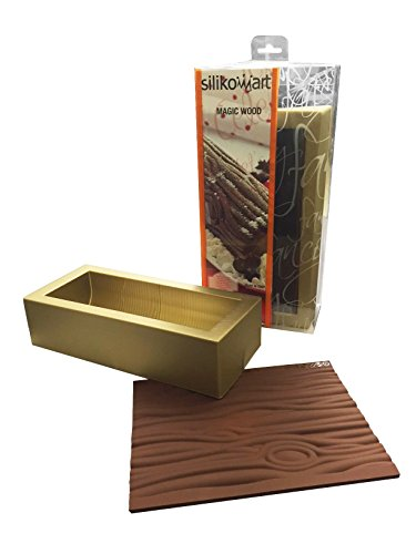 Silikomart 25.057.99.0063 KIT MAGIC WOOD - KIT SILICONE MOULD BUCHE + SILICONE BAKIN SHEET TEX07