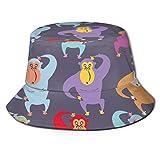 YongColer Fishing Hunting Summer Travel Bucket Cap Hat - Gorilla Red Purple