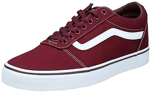 Vans Herren Ward Sneaker, Rot Canvas Port Royale White, 47 EU