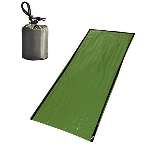 Generies Sac de Couchage d'urgence léger Multi Fonctionnel PE Film d'aluminium Film résistant au Froid Tapis de Camping Thermique Couverture Accessoire d'escalade