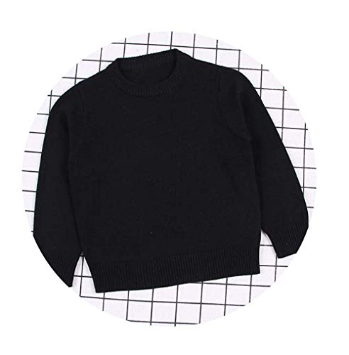 Guy Eugendssg Autumn Baby Boys Girls Sweaters Kids Sweaters Winter Boys Knit Sweater Girls Ripped Sweater Toddler Black 6T