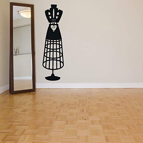 GUDOJK Muursticker Jurk Modieus Patroon Verwijderbare Muurstickers voor Woonkamer Achtergrond Home Decor Muurstickers Art Poster Muren
