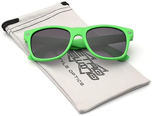 Retro Rewind Rubberized Frame Kids Sunglasses - Classic Design Toddler & Kid Sunglasses - Comfortable, Unbreakable UV400 Sun Glasses for Boys & Girls Age 3-12