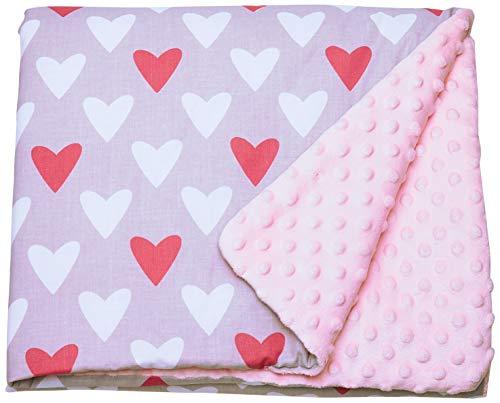 Babees © Bébé Couverture Minky 75x100 Couverture Couverture Tapis éveil étoiles gris rose pink