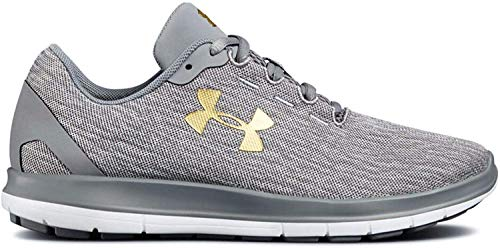 Under Armour Womens UA Remix Running Shoes (9, Steel/White/Gold)