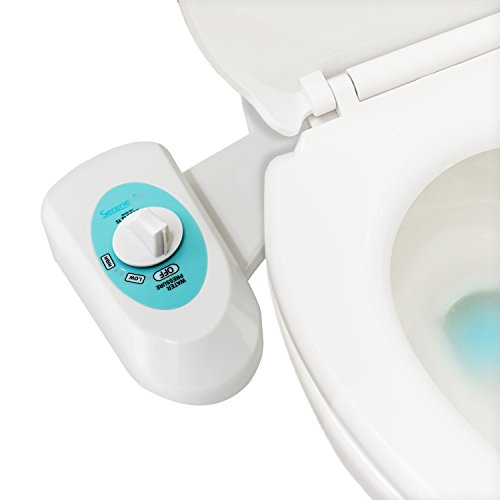Bathroom Bidet Sprayer Seat Attachment - Toilet Seat Attachable Fresh Water Adjustable Spray Function for Easy Full Cleaning, Standard Non-Electric Mechanical Self Hygiene