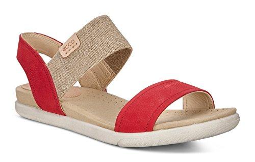 ECCO Women's Damara Ankle Gladiator Sandal, Ombre/Powder, 35 EU / 4-4.5 US
