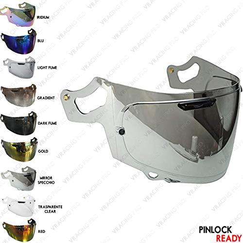 VRacing Arai Visier Rx7v Helmvisier RX7x, Chaser-X, Corsair-X, Signet-X, Quantum-X, QV-pro, Signet-x, Defiant-x, Renegade-V Helm Vas Aftermarket Pinlock Ready (Silber Chrome)