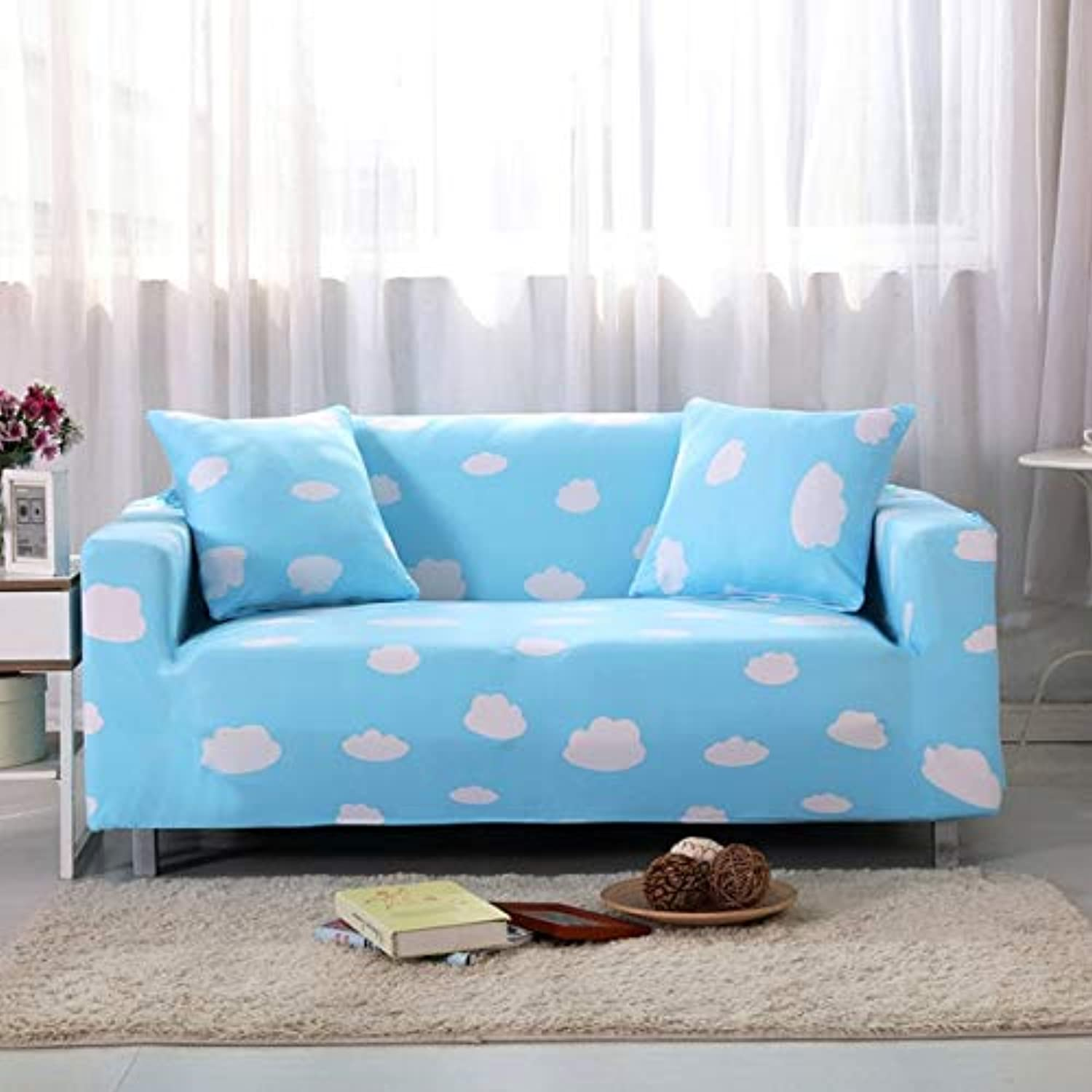 Turetrip Printing Soft Fabric Slipcovers for Couch Cover Canape Case Tight Wrap All-Inclusive Anti Slip Sofa Slipcover   I, One Seat 90-140cm