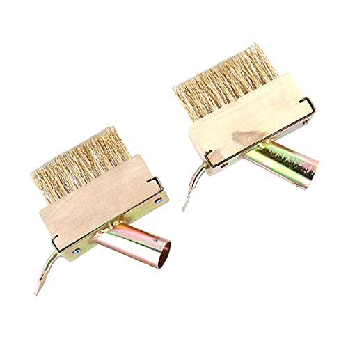 Holibanna - Juego de 2 cepillos metálicos para deshierbas y hierbas