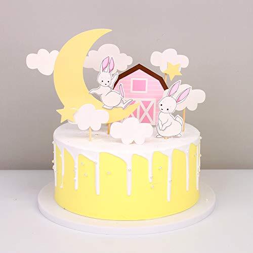 Unimall - Juego de 8 adornos para cupcakes con dibujos animados de...