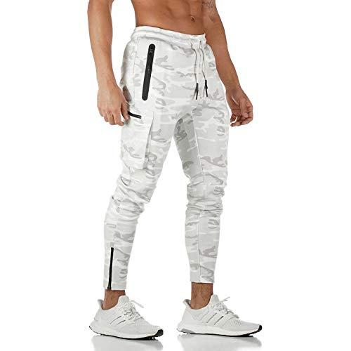 GHQYP Pantalon Chandal Poliester Hombre,Monos Deportivos con Múltiples Bolsillos, Pantalones Deportivos de Camuflaje para Hombres, Pantalones de Entrenamiento para Correr, Style6, Men(XXXL)