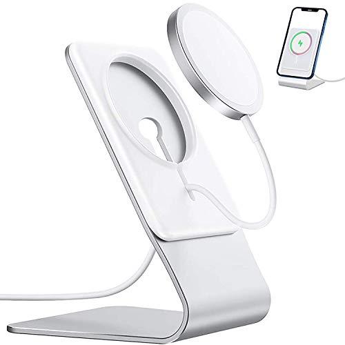 Ständer für MagSafe Ladegerät, FULAIM Aluminium MagSafe Halter, kompatibel mit MagSafe Ladegerät für iPhone 12, 12 Mini, 12 Pro, 12 Pro Max (Nicht im Lieferumfang enthalten MagSafe)