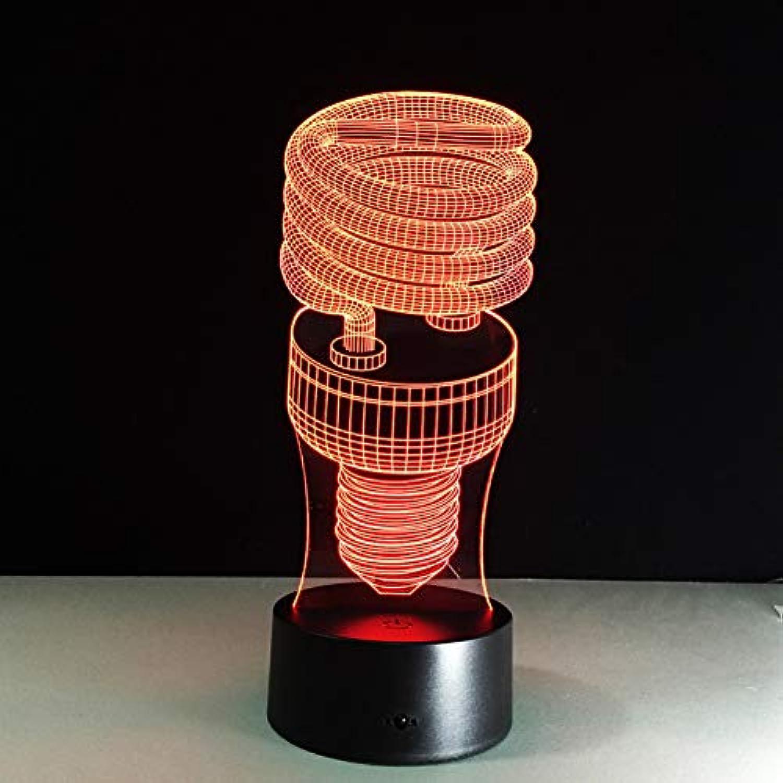 Laofan Spiralmodell 7 Farbwechsel Led 3D Nachtlicht Fernbedienung Touch Switch 3D Tischlampe,Fernbedienung