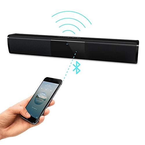 Universal Wireless Soundbar Bluetooth Stereo luidspreker TV Home Theater 3D Bass Stereo soundbar subwoofer met FM-radio BS-28A, Zwart