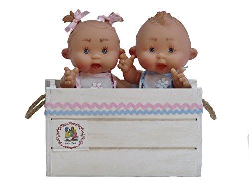 Nines d'Onil 9742 babypuppenpaar in holzgeschenkschachtel