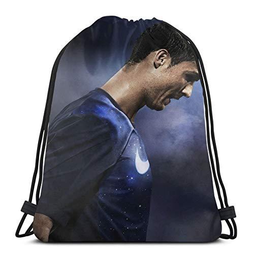 Cr7 - Bolsa de deporte con cordón, diseño de jugador de fútbol, bolsa de deporte, mochila impermeable, para mujeres, hombres, niños y niñas