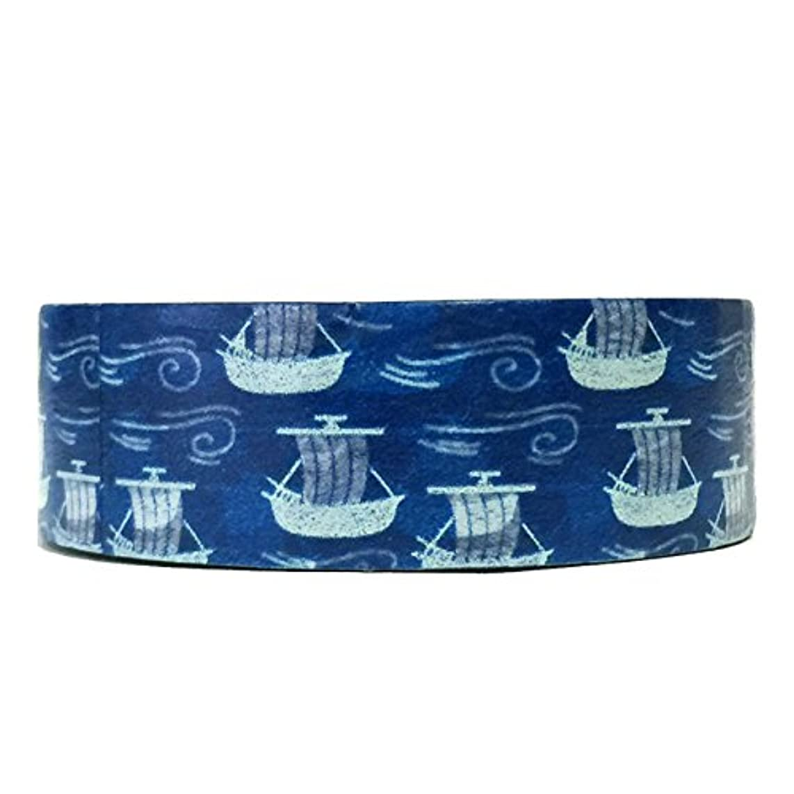 Wrapables Colorful Patterns Washi Masking Tape, Sea Voyage