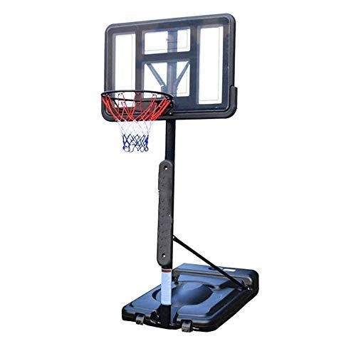 Basketbal Stand, Vrijstaande Basketball Stand, In hoogte verstelbare verrijdbare mand, geschikt for binnen en buiten Practice for volwassenen en tieners (hefhoogte: 1,3-3,05 Meters)