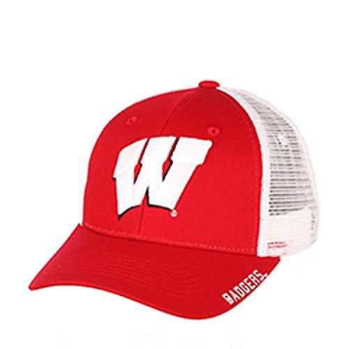 Zephyr Adult NCAA Rivalry Structured Meshback Adjustable Hat (Wisconsin Badgers - Team Color, Adjustable)