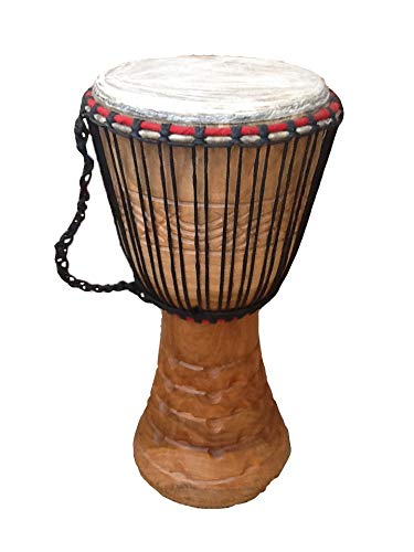 Genuine African Djembe Drum 11' head (28cm head, 60 cm height) with 2 free...